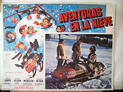 CARTOON, FAMILY /Snowball Express/DEAN JONES/1972/MEXICAN LOBBY CARD/Norman Toka