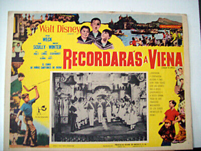 CARTOON, FAMILY /Rendezvous in Wien/WECK SCULLY/1958/MEXICAN LOBBY CARD/Helmut W