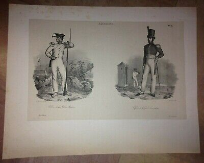 Indonesia Ambon Maluku Islands 1833 Dumont D'urville Large Antique Lithography