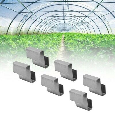 50 Aluminium Greenhouse Glass Overlap Z Glazing Clips Strong High Quality