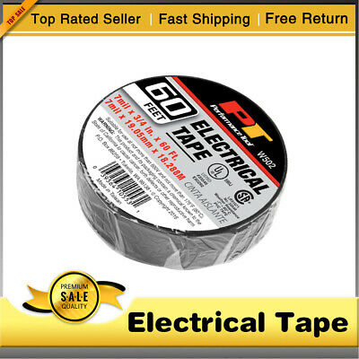 "Westape BLACK ELECTRICAL TAPE 7 mil X 3//4/"" X 60ft Qty 1"