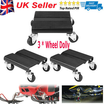 3Pcs Tire Car Dolly Auto Repair Snowmobile Moving Dollies 360° Rotating 4 Wheels