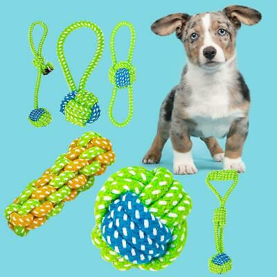Funny Rope Knot Ball Chew Bite Resistant Teeth Cleaning Toy Gift for Pet Dog Cat