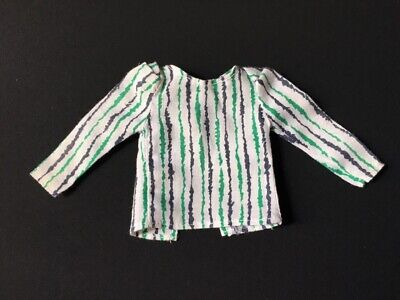 Vintage Sindy 80s Casuals Mix Match green stripe doll blouse top 1984 ShimmyShim