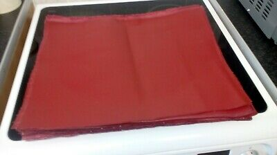 Bookbinding Bookcloth -Buckram Maroon-Pre Cut To Size-41 X 41Cm X 34Cm Average