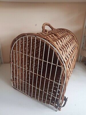 Large Wicker Travel Vet Pet Carrier Portable Box Crate Cat Dog Kitten Puppy Rabb
