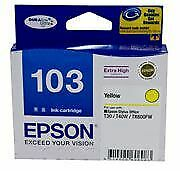 Epson 103 Yellow High Cap Suits TX600FW, T103492