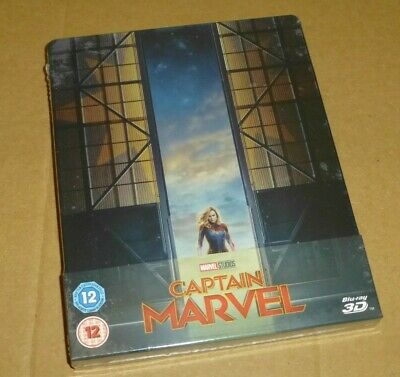 CAPTAIN MARVEL - 3D, 2D Blu-ray, UK STEELBOOK Limited Edition, Pre-order