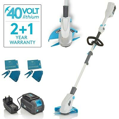 Swift 40v battery cordless strimmer edger 25cm with battery, charger & blades