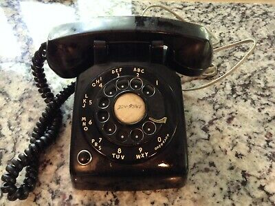 Vintage Western Electric Bell System Black Rotary Dial Phone 1964