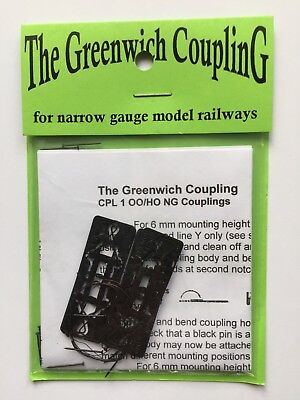 Greenwich couplings (10) CPL3 for fx OO9 H0e for NEM355 shaft