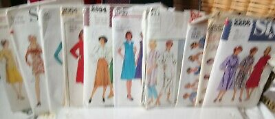 Joblot Of Style Women's Clothes Dressmaking Sewing Patterns