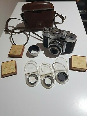 1950's Vintage Ziess Ikon Contina 35mm with lens adapters and original case