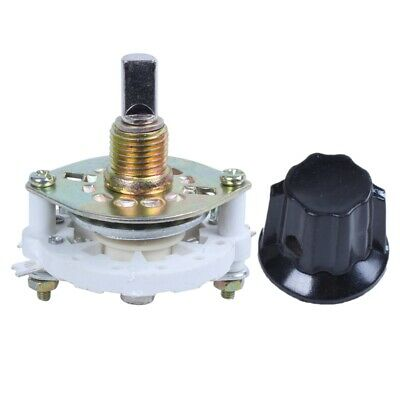 1X(Plastic Knob 1P6T 1 Pole 6 Throw Band Channel Rotary Switch Selector K4W9)