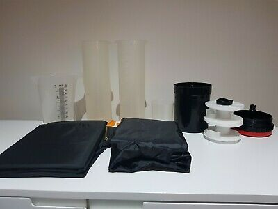 Film Processing And Developing Kit B/W 35mm or 120 - Tank & 2 Darkroom Bags etc