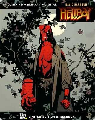 Hellboy (2019) Best Buy Steelbook (Blu-ray + 4K UHD) BRAND NEW!! PRE-ORDER!!