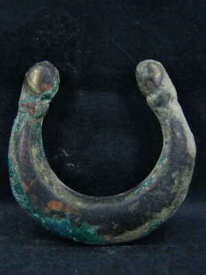 Ancient Bactrian Bronze Moon Pendant C.300 BC #B7303#