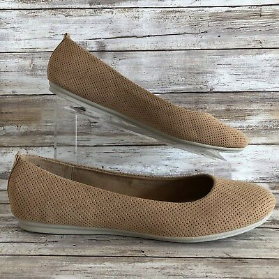 ef6b88980 Easy Spirit e360 GetCity 12M Ballet Flats Brown Perforated Slip On  Lightweight