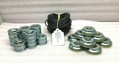"Lot Of Conveyor Roller Parts 100-O'rings .125X9-1/4"" 10-Skate Wheel 10-Pulley"