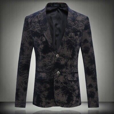 Mens Slim fit High end Long sleeve 2 Buttons Business Luxury Jackets Blazer Coat