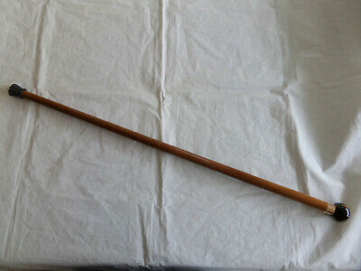 Antique Brigg Gold Mount Walking Stick/Cane With A Ball Top.