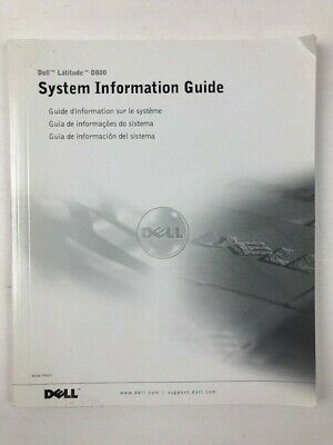 Dell Latitude D800 System Information Guide Manual  (D156)
