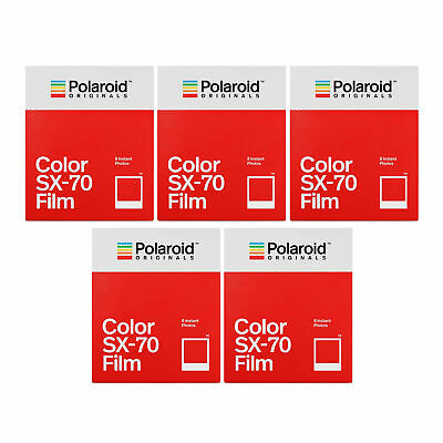 Polaroid Instant Color Film for Sx-70 Cameras (8 Pack/ White Frame) 5-Pack