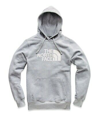The North Face Men's Half Dome Pullover Hoodie - TNF Light Grey Heather/White