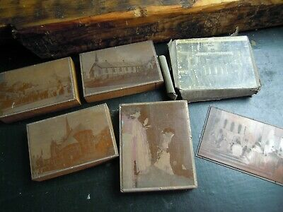 Antique Copper Etched Printing Blocks.