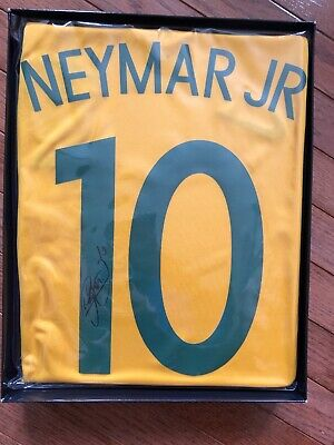 Neymar hand signed autographed BRAZIL jersey with FOOTBALLFOCUSASIA