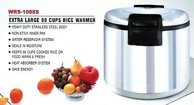 Smart Chef  - 88 cup Stainless Steel Commercial Rice Warmer ETL/NSF listed NEW