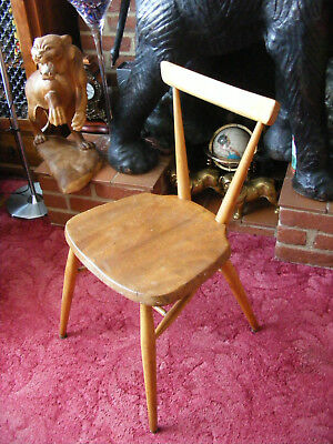 Vintage Mid Century Ercol Model 392 Junior Stacking Chair *For Restoration*