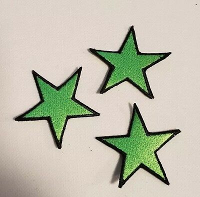 3 Sterne grün  Rockabilly Tattoo Aufnäher Punk Patch Nautic Star old school