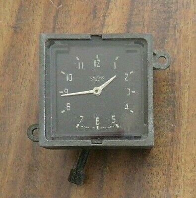 1950 Smiths (M.a.) Bristol Car Windup Clock Patent Applied Made In England