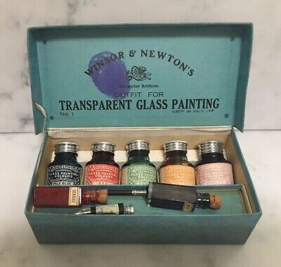 "Antique Winsor & Newton ""transparent Glass Painting Outfit"""