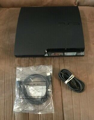Official Sony PlayStation 3 PS3 Slim 120GB Console & Wires! ~ Works Great! LQQK