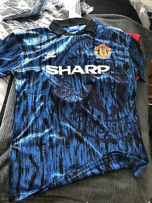 Manchester United 1992-1993 Retro Football Shirt Away Jersey Man Utd Medium