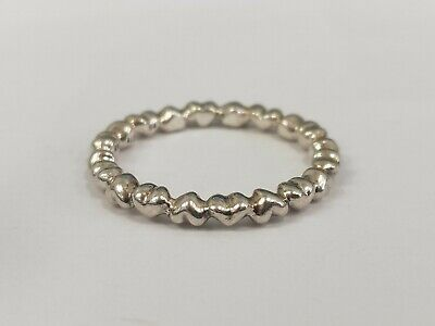 a3d7cf1e75c57 NEW PANDORA HEART Ring Forever Love 190837 Sterling Silver Stackable ...