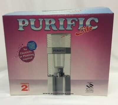 New Purific Life 2 Gallon Water Purifier-No Electricity/Plumbing Required (C10)