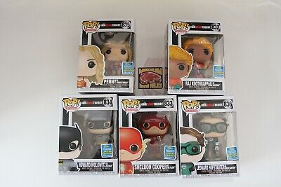 Funko Pop | Big Bang Theory SDCC 2019 Shared Exclusive Bundle In Hand FREE SHIP
