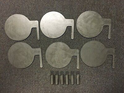 "A36 Steel Target Dueling Tree DIY Kit 6pc 6""x3/16"" Pad with Tubes USA MADE"