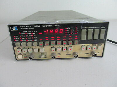 HP - 8116A, Programmable Pulse/Function Generator, 1 mHz - 50 Mhz w/ OPT 001