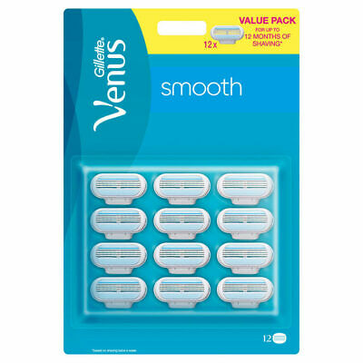 12 Pack Gillette Venus Smooth Razor Blades**FREE DELIVERY**