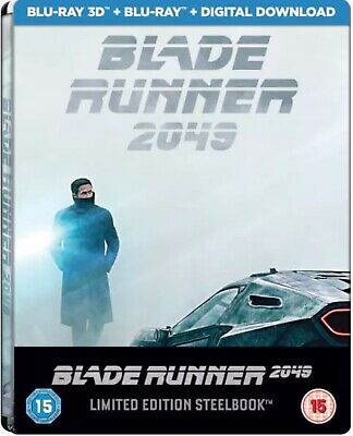 Blade Runner 2049 3D/2D Bluray Zavvi Uk Exclusive Steelbook Ltd Edition *Sealed*