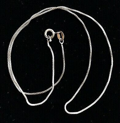 """Vintage Sterling Silver 925 ITALY Chain Necklace MARKED 16"""" M023"""