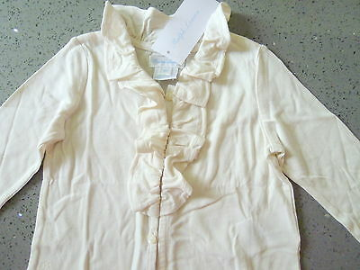 RALPH LAUREN Beautiful Ivory Ruffled Soft Cotton/Modal Top Size 9M NWT