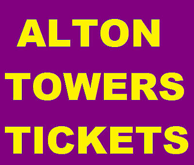 4 Alton Towers Tickets For Sunday 15th September 15/9/19 RRP £224