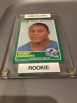 1989 Score Football 257 Detroit Lions Barry Sanders Rooike