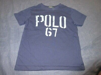 Boys Navy Blue Tee Shirt by POLO by RALPH LAUREN - Sz 4/4T - POLO 67 - Summer