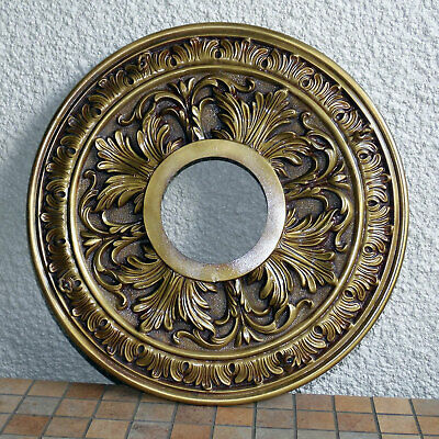 "Large 20"" Diameter For Heavy Chandelier Cast Solid Brass Ceiling Canopy"